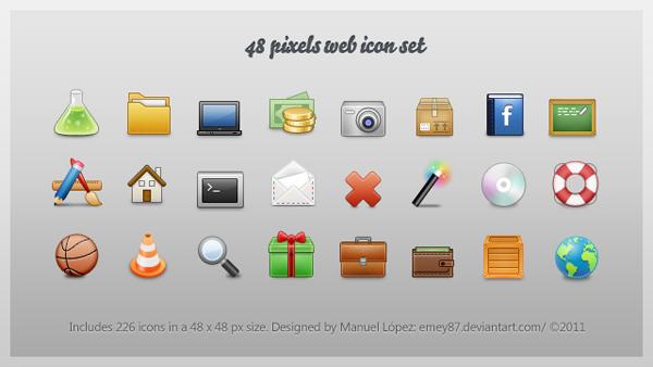 48px web icon set