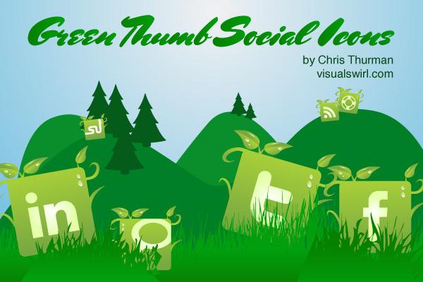 Green Thumb: A Free Social Media Icon S