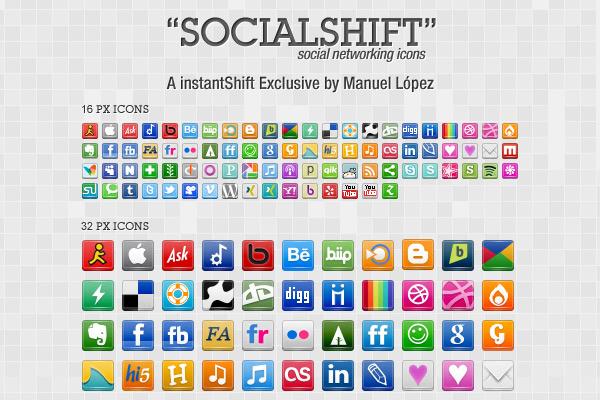 SocialShift Icon Set