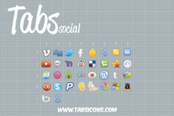 Tabs Color: Social