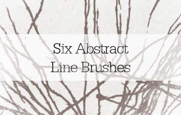 6 Abstract Lines Brushes