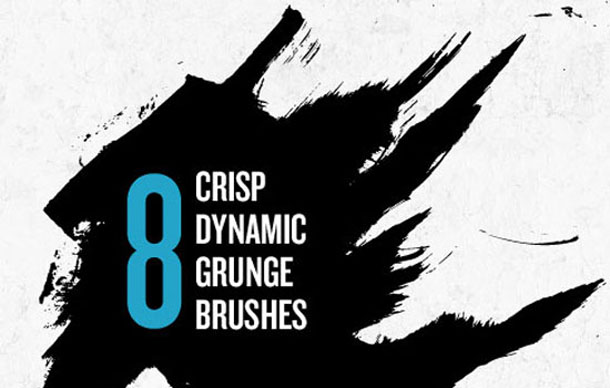 8 Crisp Dynamic Grunge Brushes