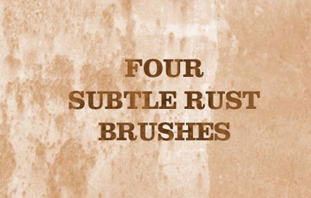 4 Subtle Rust Brushes