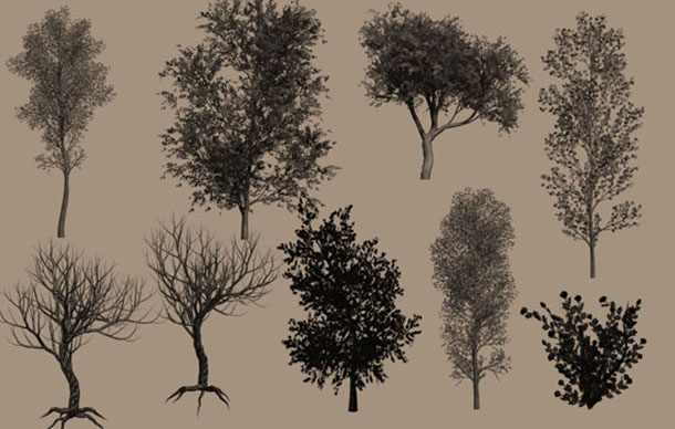 Photoshop Brushes Trees