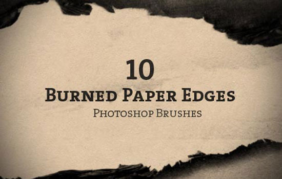 10 Burned Paper Edge Brushes