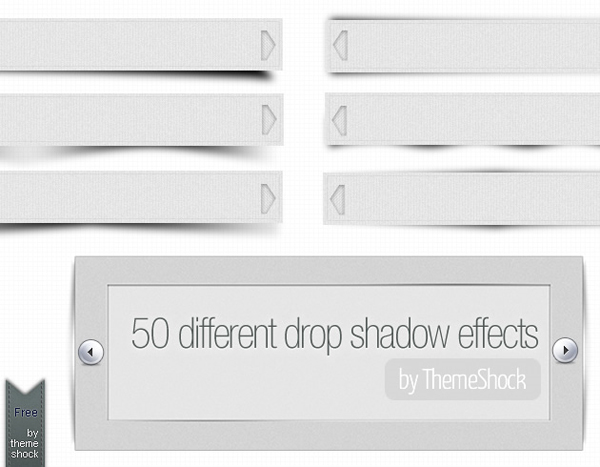50 curved drop shadow effects